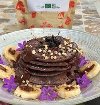 pancake purple corn GF Vegan