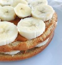 Pancakes vegan healthy peanut butter banane