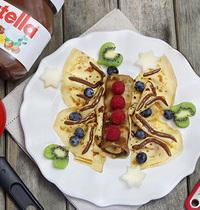 Papillon aux fruits et au Nutella