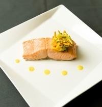 Pavé de saumon aux petits légumes