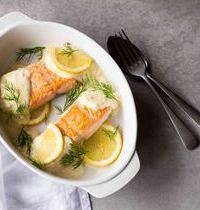 Pavés de saumon à la crème