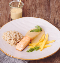 Pavés de saumon au coulis de mangues par Nathalie de Envie d'Apéro