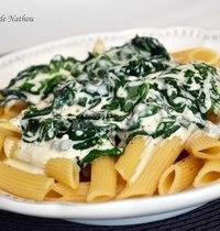 Penne sauce crémeuse aux épinards et gorgonzola