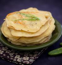 Petites crêpes asiatiques salées aux légumes