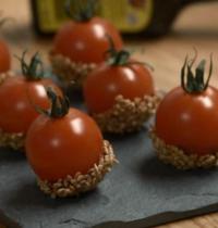 Petites tomates d'amour au caramel épicé