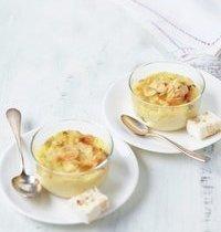 Petits flans au nougat, miel, amandes et pistaches