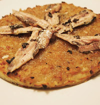 Breton pizza with sardines