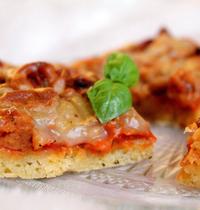 Pizza façon Bolognaise & fromage fondu (vegan, sans gluten)