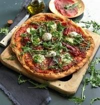 Pizza mozzarella, bresaola
