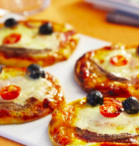 Pizzas mini tomates mozzarella