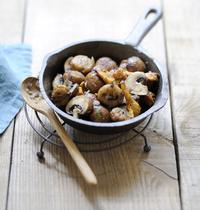 Poêlée de champignons aux châtaignes