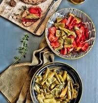 Poêlée de poivrons et piments verts