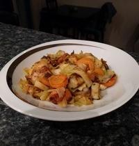 Poelée poireaux carottes