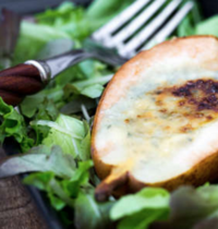 Poires gratinées au fromage