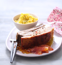 Orange and ginger veal breast