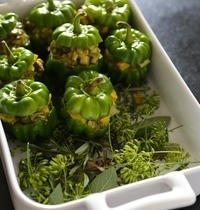 Vegetable-stuffed bell peppers
