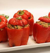 Poivrons farcis (végétarien)