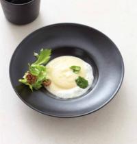 Polenta au gorgonzola et aux noix