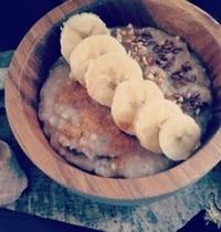 Porridge au mais mauve
