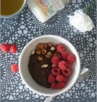 Porridge de Quinoa au Chocolat, Amandes & Framboises