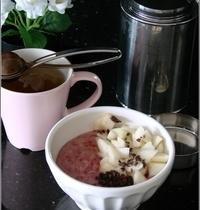 Porridge Framboises & Poires au Lait d'Amande