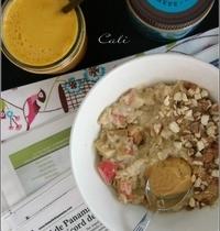 Porridge Rhubarbe Amande