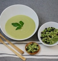 Saint-Germain Potage (split pea soup)  with croutons