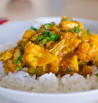 Curried chicken with pineapple