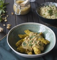 Poulet et sauce satay thaï aux cacahuètes