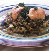 Poulet tandoori & lentilles vertes