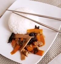 Stir-fried bamboo shoots
