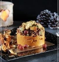 Purée de patate douce, lentilles aux noisettes, tofu mariné et carottes rôties (vegan)