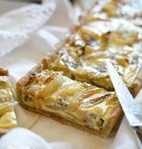Quiche aux oignons, bleu d'Auvergne et touche de miel d'acacia – IG bas