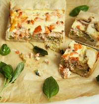 Quiche saumon courgettes