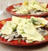Ravioles épinard ricotta aux champignons