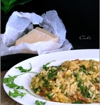 Risotto au Chorizo, Chèvre & Roquette
