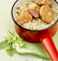 Lamb sweetbreads risotto