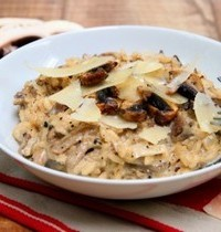 Mushroom (oyster and white) risotto
