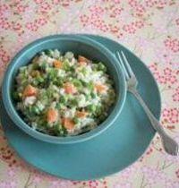 Risotto aux petits pois et carottes