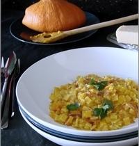 Risotto de Crozets au Potimarron & au Jambon Cru