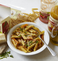 Yvan Cadiou's semi-complete penne with vegetables (risotto style)