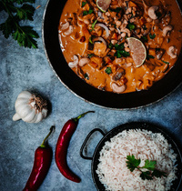 Riz au curry de légumes