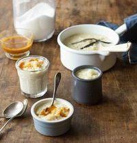 Riz au lait à la vanille, caramel au beurre salé