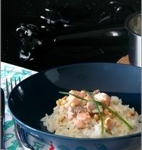 Riz au Saumon & Pignons Grillés