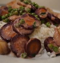Riz camarguais aux légumes et sa crème violette