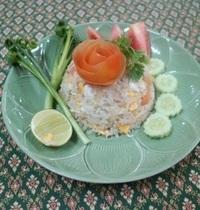 Riz sauté au poulet | khao phad gai
