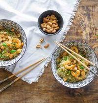 Riz thaï aux crevettes, à ma façon !