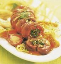 Rognons de veau aux cèpes, courgettes, et petits légumes