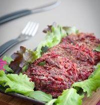 Zucchini and beet röstis