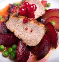 Rôti de porc aux fruits rouges